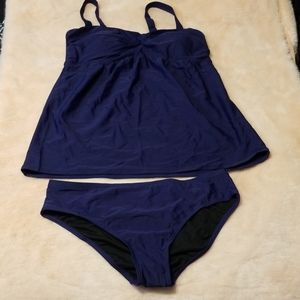 New without tags navy blue tankini